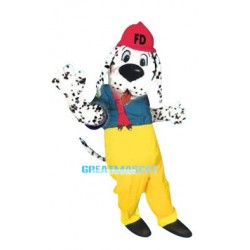 Lovely Firehouse Dalmatian Dog Mascot Costume