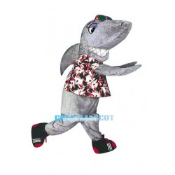 Stylish Gray Shark Mascot Costume