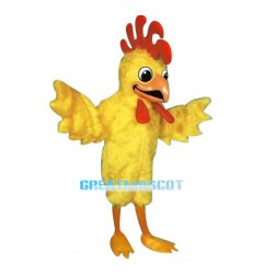 Lovely Yellow Rooster Mascot Costume