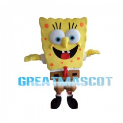 Adult Cartoon SpongeBob SquarePants Mascot Costume
