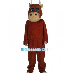 Plush Red Bull Mascot Costume