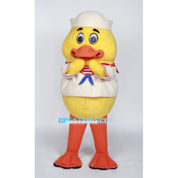 Cute Baby Duck Sailor Mascot Adult Costume