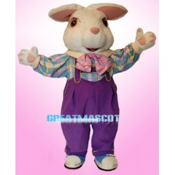 Cute White Easter Bunny Mascot Adult Costume