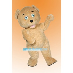 Curly Teddy Bear Mascot Adult Costume