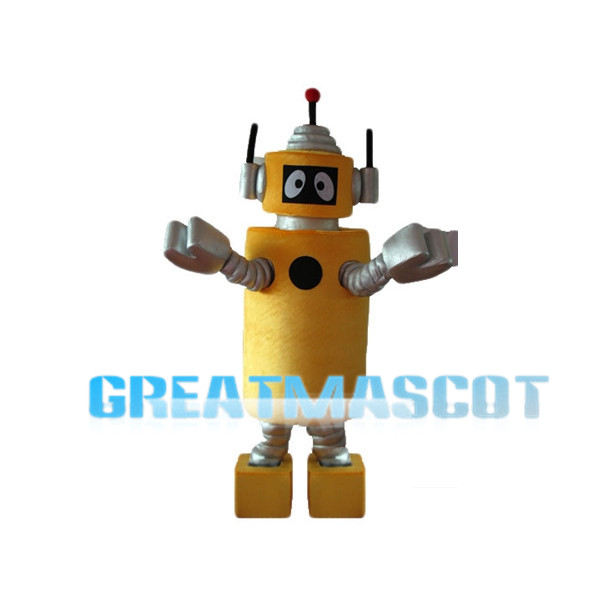 Yo Gabba Gabba Plex The Robot Mascot Cartoon Character Costume Adult Size