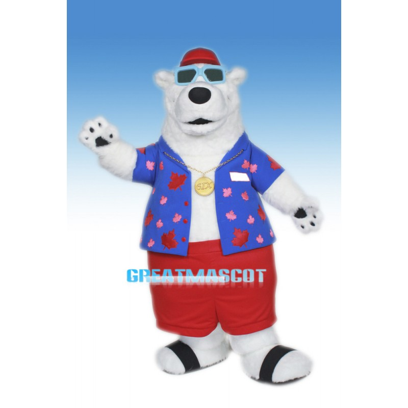 Cool Berkley Polar Bear Mascot Costume