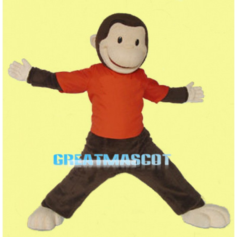 Curious George Monkey Mascot Adult Costume