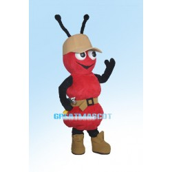 Cartoon Red Ant Repairman Mascot Adult Costume