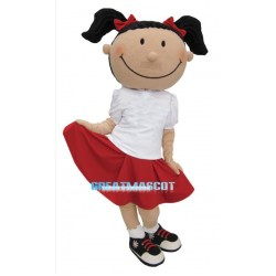 Shy Little Girl Mascot Costume