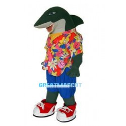 Beach Green Shark Mascot Costume