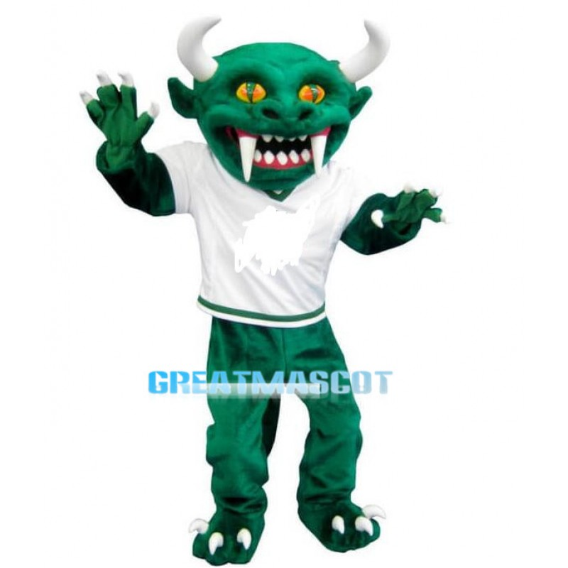 Fearsome Green Monster Hodag Mascot Costume