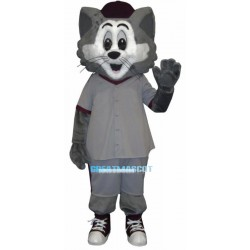 Sport Grey Cat Mascot Adult Costume