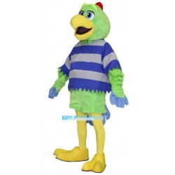 Green Parrot Mascot Adult Costume