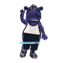 College Power Purple Hippo Mascot Costume
