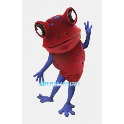 Red Frog Mascot Adult Costume