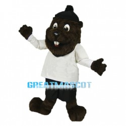 Brown Beaver Long Fur Mascot Adult Costume