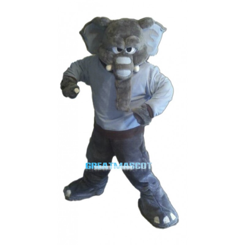 Fierce Power Gray Elephant Mascot Costume