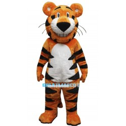 Happy Rory The Tiger Mascot Adult Costume