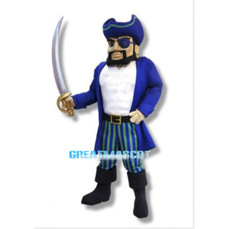 College Pirate Mascot Costume