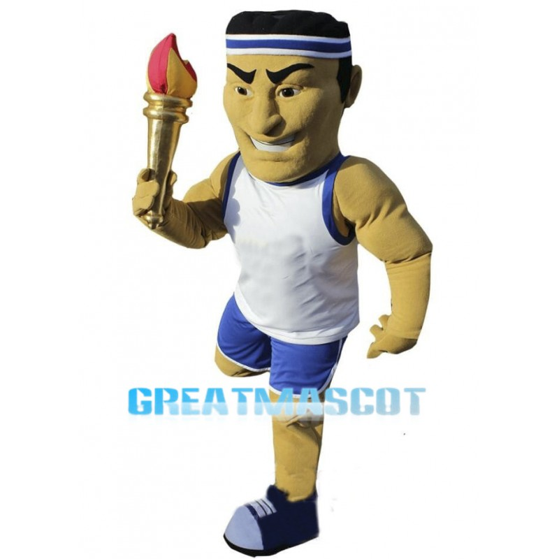 Power Olympic Torchbearer Mascot Costume