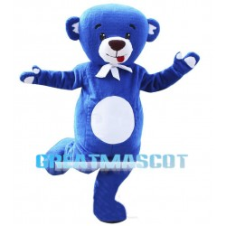 Lovely Blue Teddy Bear Mascot Costume