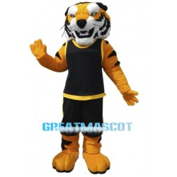 Fierce Muscly Tiger Mascot Costume