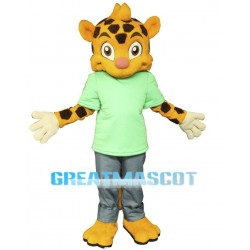 Cute Baby Cheetah Mascot Costume