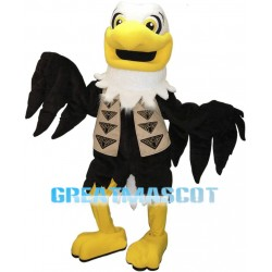Bald Eagle With Jacket Vest Mascot Costume