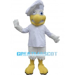 Wacky White Chicken Chef Mascot Costume
