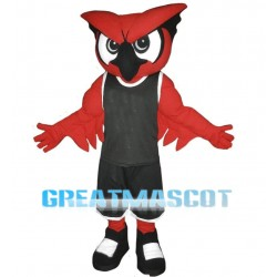 Power Red Owl Sports School Mascot Costume