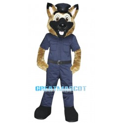 German Shepherd Dog Sheriff Mascot Costume