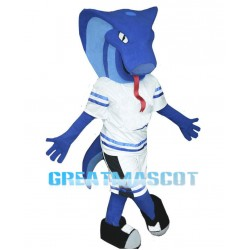 Blue Cobra Mascot Costume