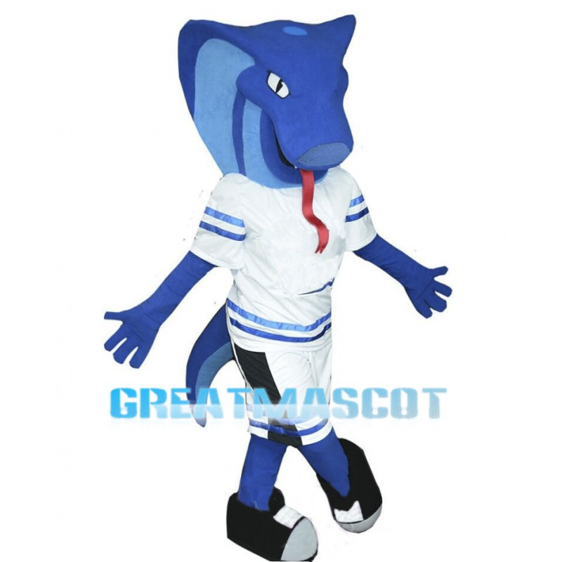 Sports Blue Cobra Mascot Costume