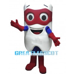 Cartoon Tooth Superhero Lightweight Mascot Costume