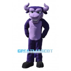 Power Purple Buffalo Mascot Costume