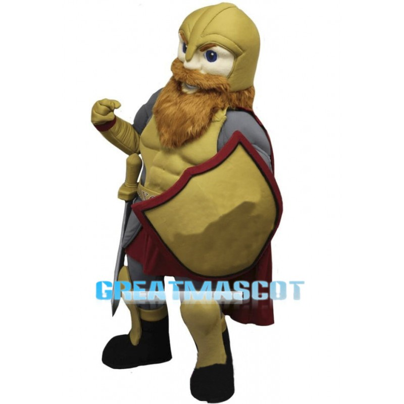 Medieval Warrior Mascot Costume