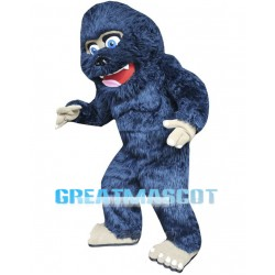 Lovely Blue Orangutan Long Wool Mascot Costume