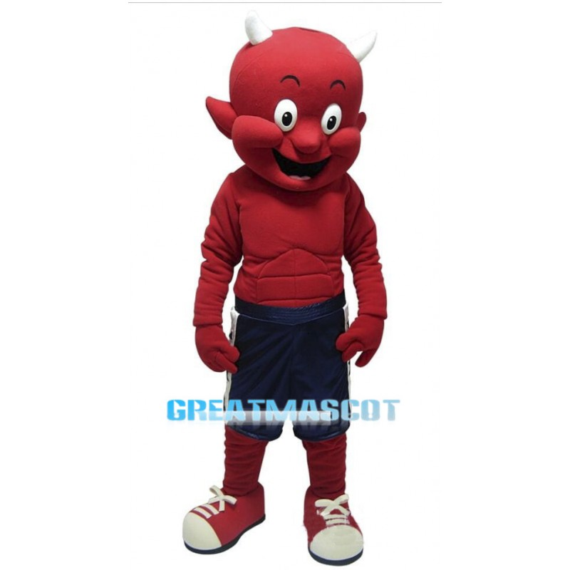 Power Little Devil Mascot Adult Costume