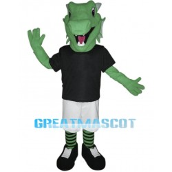 Green Dragon Mascot Costume Animal Fancy Dress