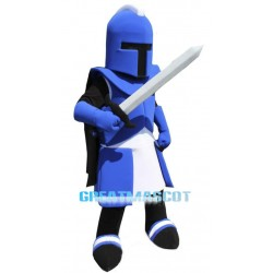 Blue Spartan Knight Mascot Costume