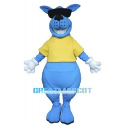 Cool Blue Kangaroo Mascot Costume