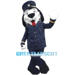 Lovely Spotted Dog Train Conductor Mascot Costume