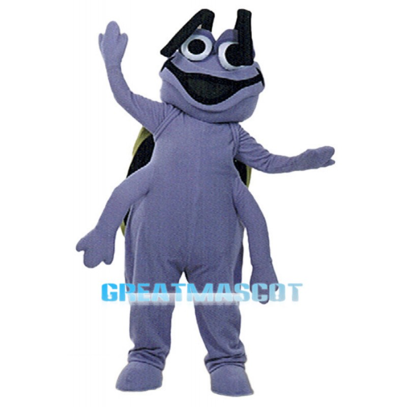 Adult Cartoon Purple Beetle Mascot Costume