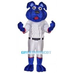 Sports Blue Dog Mascot Costume