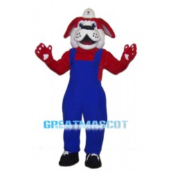 Red Dog Builder Mascot Costume Animal Fancy Dress