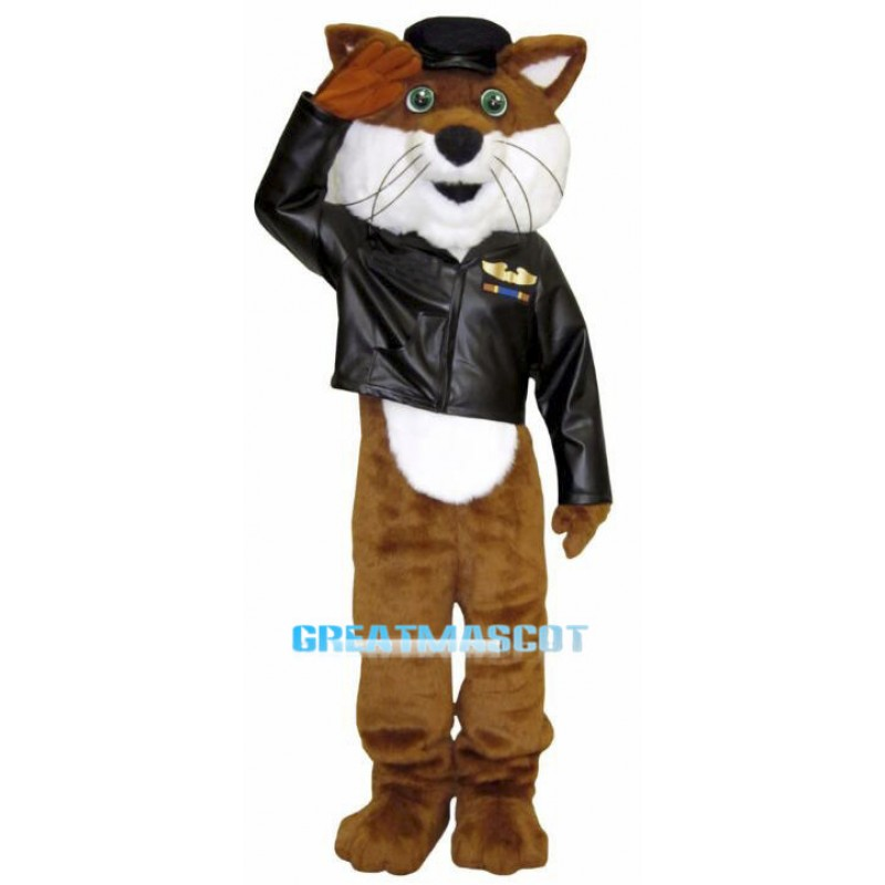 Loyal Fox Police Plush Mascot Costume