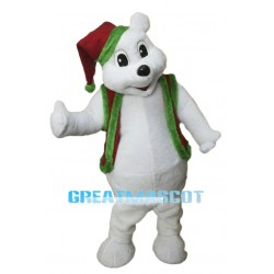 Christmas White Bear Mascot Adult Costume