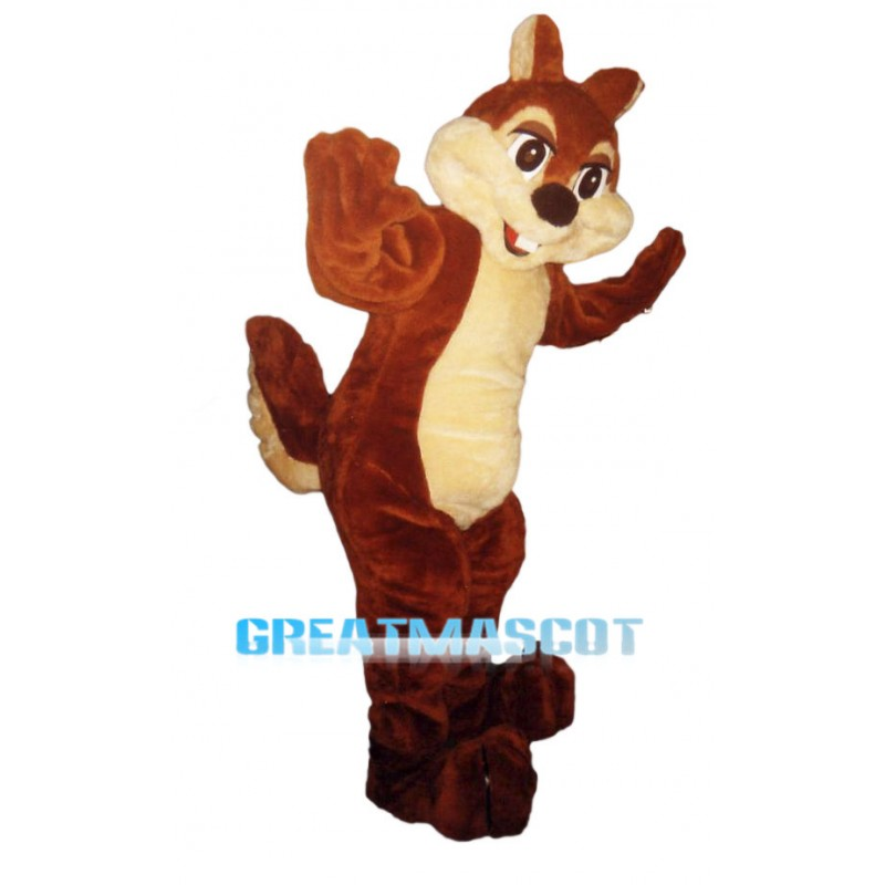 Delighted Squirrel Mascot Costume