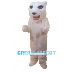 Sexy White Tiger Mascot Costume