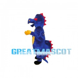 Dark Blue Dinosaur Mascot Adult Costume